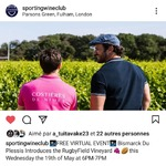 Do you want to know what is the #rugbyfieldvineyard all about ?🍷🏉 What are those 13m rugby posts over looking our vineyard ? Follow Bismarck du Plessis talk with us from @chateaudevalcombe tonight at 7PM. Link below ! See you tonight !  https://event.bablglobal.com/SWC-RugbyFieldVY